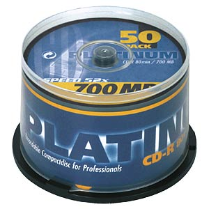 CDR 80min/700MB 50-Spindel PLATINUM 100128