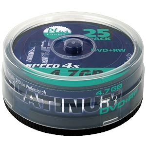 DVD+RW 4,7 GB, 25-Spindel PLATINUM 100603