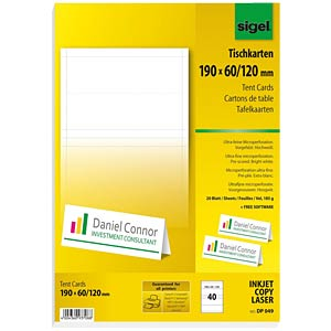 Tent Cards SIGEL DP049