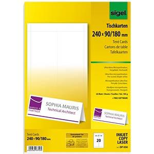 Tischkarten, 24,0 x 9,0 cm SIGEL DP050