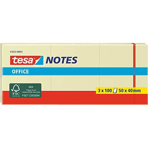tesa® Office Notes, 50 x 40mm, 3x 100 Blatt TESA 57653-00001-05