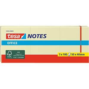 Klebezettel, 50 x 40mm, 3 x 100 Blatt TESA 57653-00001-05