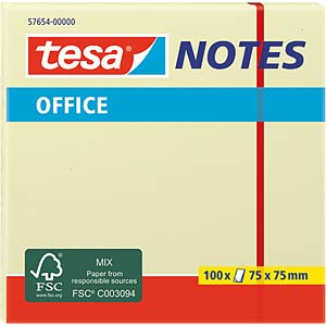 tesa® Office Notes, 75 x 75 mm, 100 sheets TESA 57654-00000-05