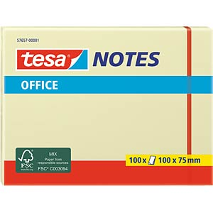 tesa® Office Notes, 100 x 75mm, 100 Blatt TESA 57657-00001-05