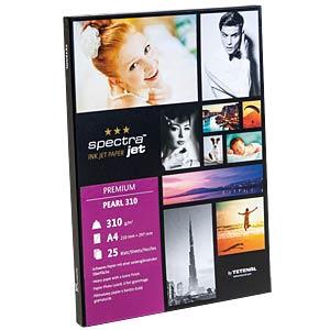 DIN A4, Inkjet, Fotopapier, 305 g/m², 25 Blatt, perlmatt-glänzen TETENAL 130312