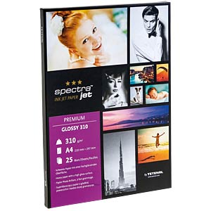 DIN A4, Inkjet, Fotopapier, 303 g/m², 25 Blatt TETENAL 130300
