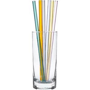 TFA 14201906 - Trinkhalme aus Glas farbig (6er Pack inkl. Reinigungsbürste)