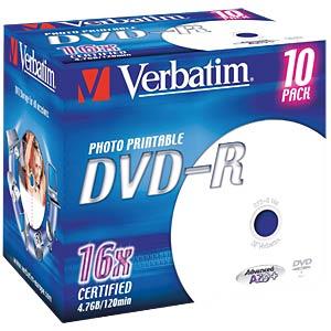 DVD-R4,7 VER10-P - Verbatim DVD-R 4,7GB