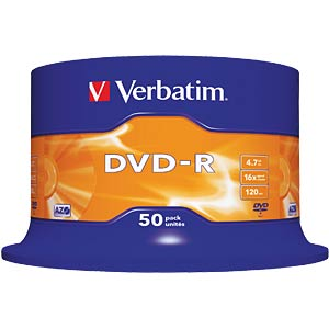 Verbatim DVD-R 4,7GB, 50-er CakeBox VERBATIM 43548