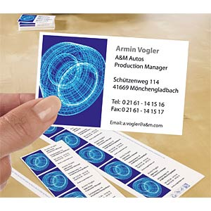 250 business cards with smooth edges AVERY ZWECKFORM C32011-25