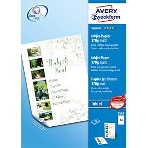 Inkjet-Papier 170g AVERY ZWECKFORM 2583