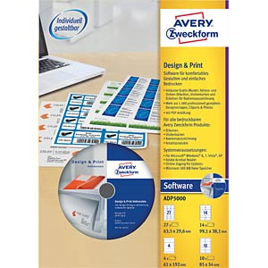 Design and printing software AVERY ZWECKFORM ADP5000