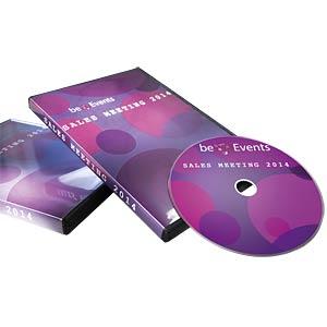 DVD-Etiketten, DVD Einleger, Inkjet, 25 Stück AVERY ZWECKFORM J8437-25