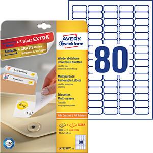 Kennzeichnungsetiketten AVERY ZWECKFORM L4732REV-25