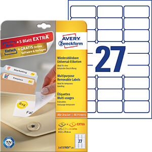 Marker labels AVERY ZWECKFORM L4737REV-25