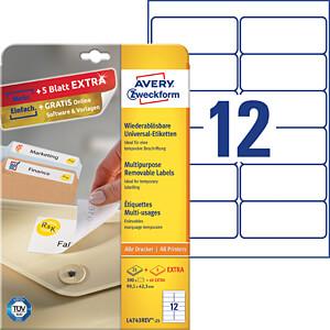 Kennzeichnungsetiketten AVERY ZWECKFORM L4743REV-25