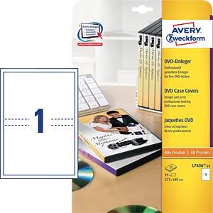 25 DVD Einleger AVERY ZWECKFORM L7436