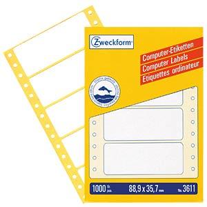 Label 88.9 x 35.7 mm AVERY ZWECKFORM 3611