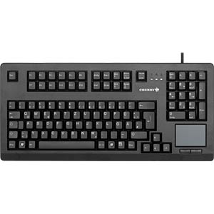 Tastatur - USB - schwarz - Touchpad - US-Layout CHERRY G80-11900LUMEU-2