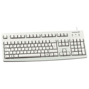 Keyboard - USB - light grey - UK Layout CHERRY G83-6105LUNGB-0