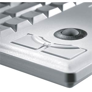 Keyboard - PS/2 - grey - compact - trackball - German CHERRY G84-4400LPBDE-0