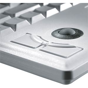 Keyboard - PS/2 - grey - compact - trackball - US CHERRY G84-4400LPBEU-0