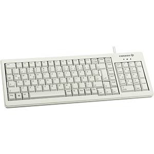 Tastatur, USB, hellgrau, kompakt CHERRY G84-5200LCMDE-0