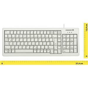 Tastatur - USB - hellgrau - kompakt CHERRY G84-5200LCMDE-0