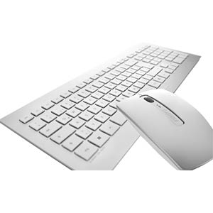 Wireless desktop - silver/white - US Layout CHERRY JD-0300EU