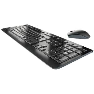 Wireless desktop - black - German Layout CHERRY JD-0700DE-2