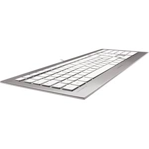 Keyboard - USB - white/silver - German Layout CHERRY JK-0300DE