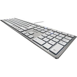 Tastatur, USB, silber CHERRY JK-1600DE-1
