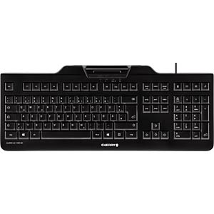 Keyboard with smart card terminal - German CHERRY JK-A0100DE-2