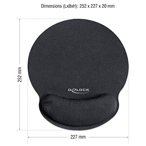 Mouse pad with Gel Wrist Rest DELOCK 12559
