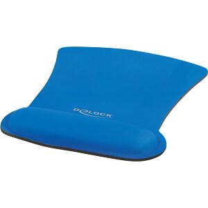 DELOCK 12699 - Mauspad mit Handballenauflage ergonomisch  blau