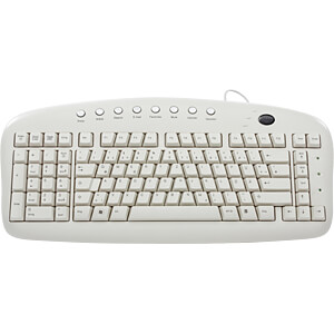 Keyboard for left-handed users, USB, white GETT KL20241