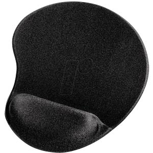 "Mouse pad - ""ergonomic"" theme - mini - black HAMA 54777"