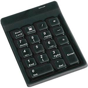Nummernblock - USB - schwarz KEYSONIC ACK-118 BK