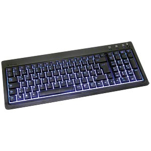 Keyboard - USB - black - gaming - illuminated KEYSONIC 12910