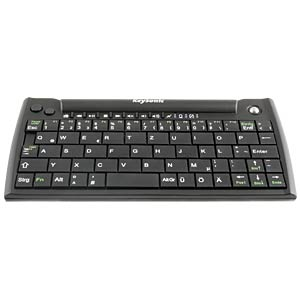 Wireless keyboard – USB – black – mini, trackball KEYSONIC 28070