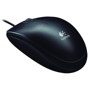 Wired Mouse, USB, black LOGITECH 910-003357