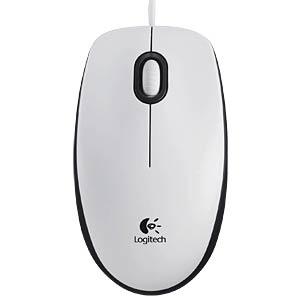Maus (Mouse), Kabel, USB, weiß LOGITECH 910-003360
