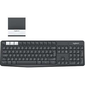 Funk-Tastatur, Bluetooth, mit Smartphone-Halter LOGITECH 920-008168