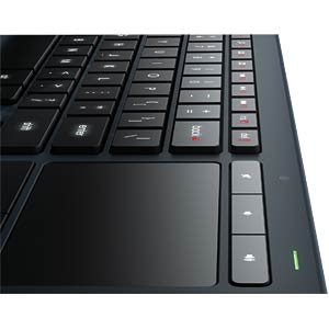 Wireless keyboard — USB — black — illuminated LOGITECH 920-006087