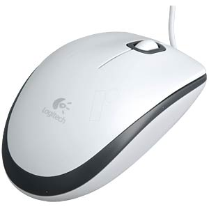 Wired mouse — white LOGITECH 910-001605