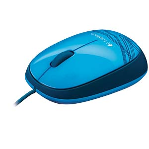 Wired mouse — blue LOGITECH 910-003105
