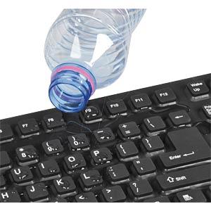 Tastatur, USB, schwarz, flexibel, wasserdicht FREI