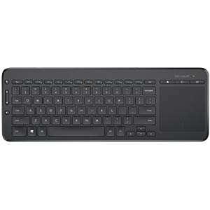 Wireless keyboard — USB — black — touchpad MICROSOFT N9Z-00008