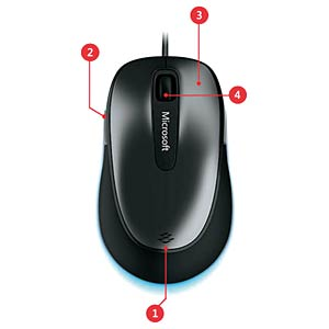 Wired mouse — BlueTrack MICROSOFT 4EH-00002