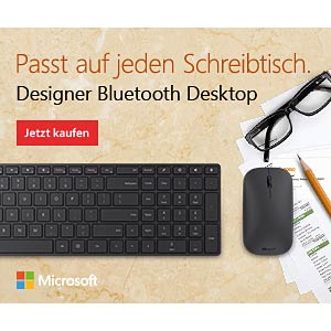 Funk-Desktop mit deutschem Layout, Bluetooth MICROSOFT 7N9-00008
